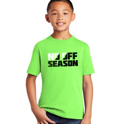NO OFF SEASON GRAPHIC TEE - Neon Green - Youth Sizing