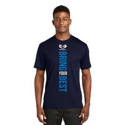 BRING YOUR BEST GRAPHIC TEE - Navy