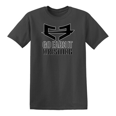 GEI WRESTLING GRAPHIC TEE - Dark Gray