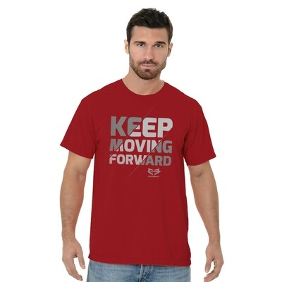 KEEP MOVING FORWARD GRAPHIC TEE - Red