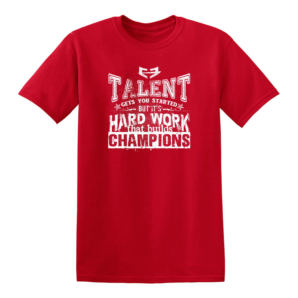 HARD WORK BUILDS CHAMPIONS GRAPHIC TEE