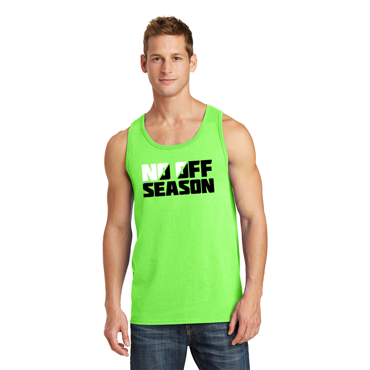 NO OFF SEASON TANK TOP - Neon Green - Adult Sizing