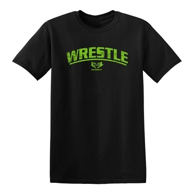 WRESTLE GRAPHIC TEE - BRIGHT GREEN