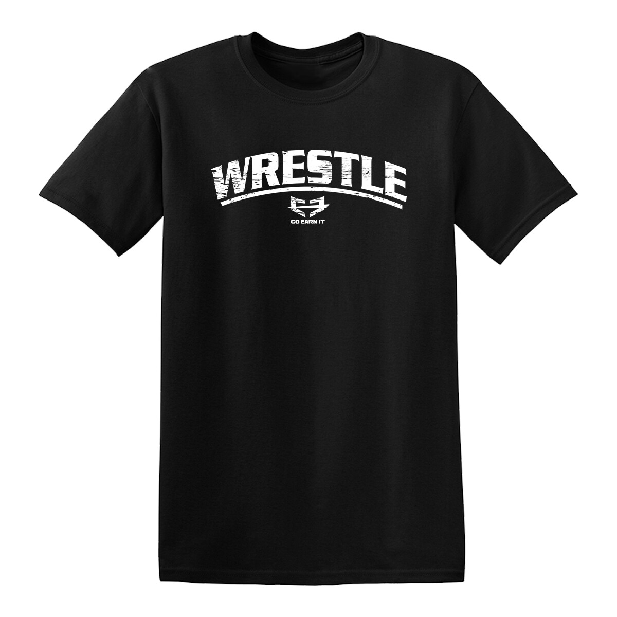 WRESTLE GRAPHIC TEE - BLACK AND WHITE