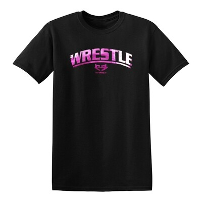 WRESTLE GRAPHIC TEE - MAGENTA