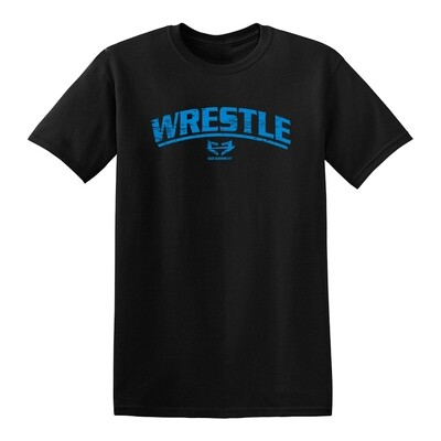 WRESTLE GRAPHIC TEE - BLUE