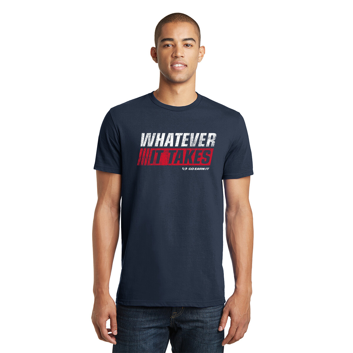 WHATEVER IT TAKES GRAPHIC TEE - Navy