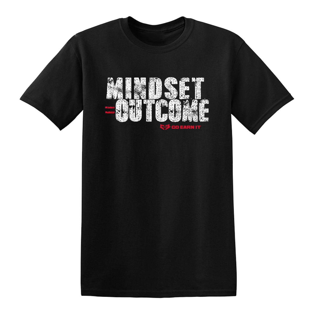 MINDSET EQUALS OUTCOME GRAPHIC TEE - Black