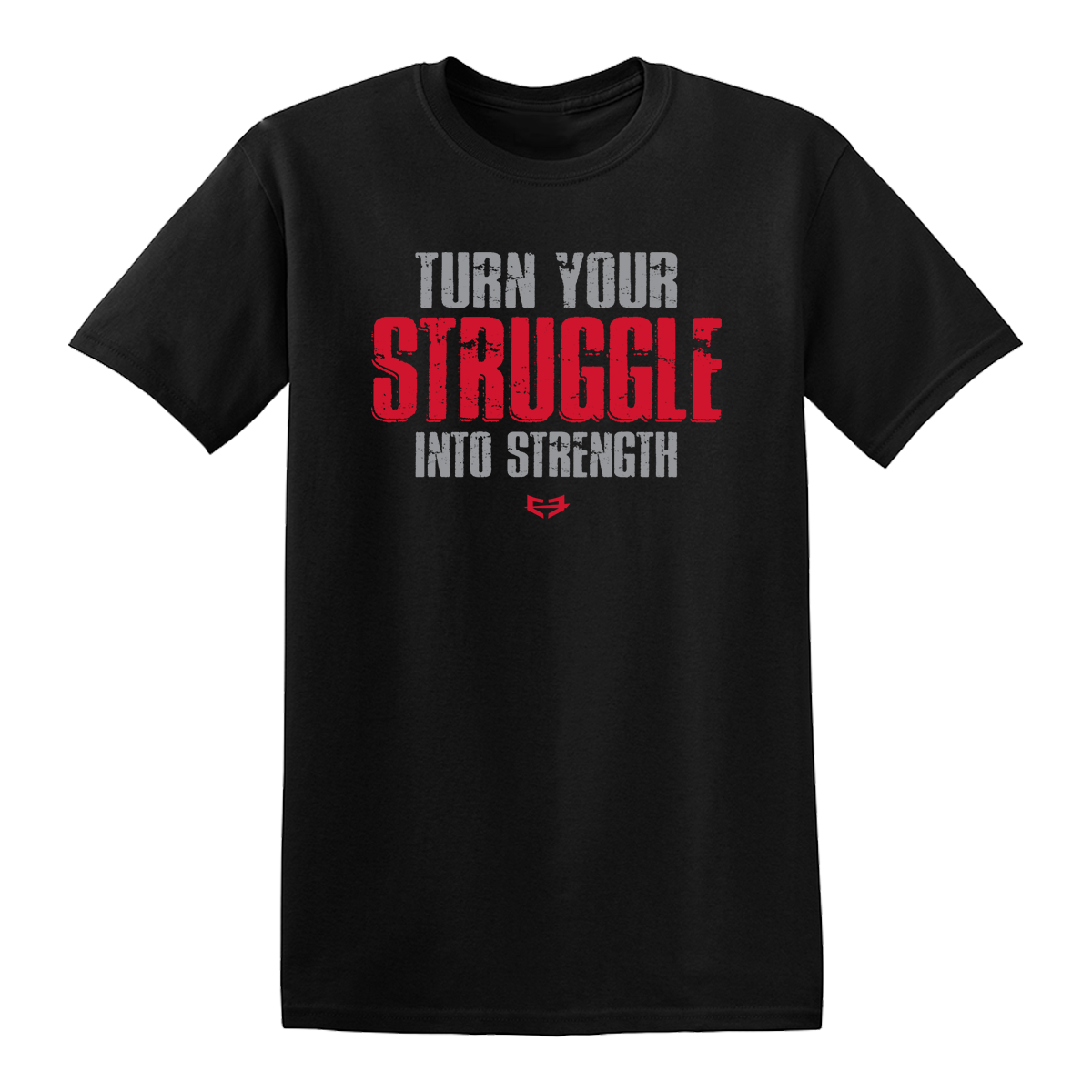 STRUGGLE INTO STRENGTH GRAPHIC TEE - Black