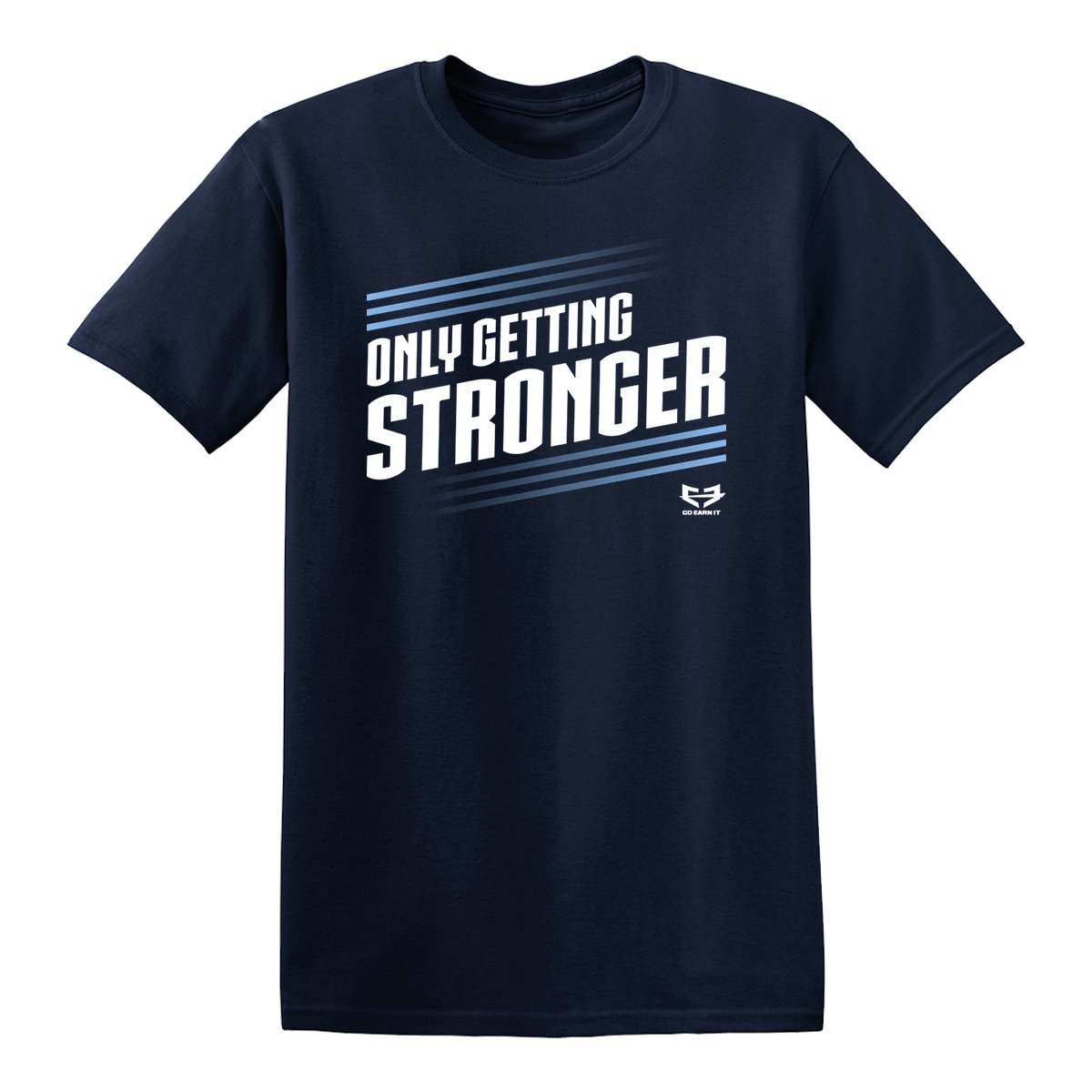 ONLY GETTING STRONGER GRAPHIC TEE - Navy