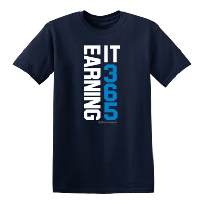 EARNING IT 365 GRAPHIC TEE - Navy