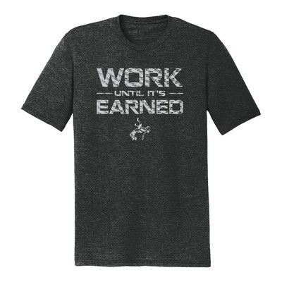 WORK UNTIL IT'S EARNED GRAPHIC TEE - Frost Gray