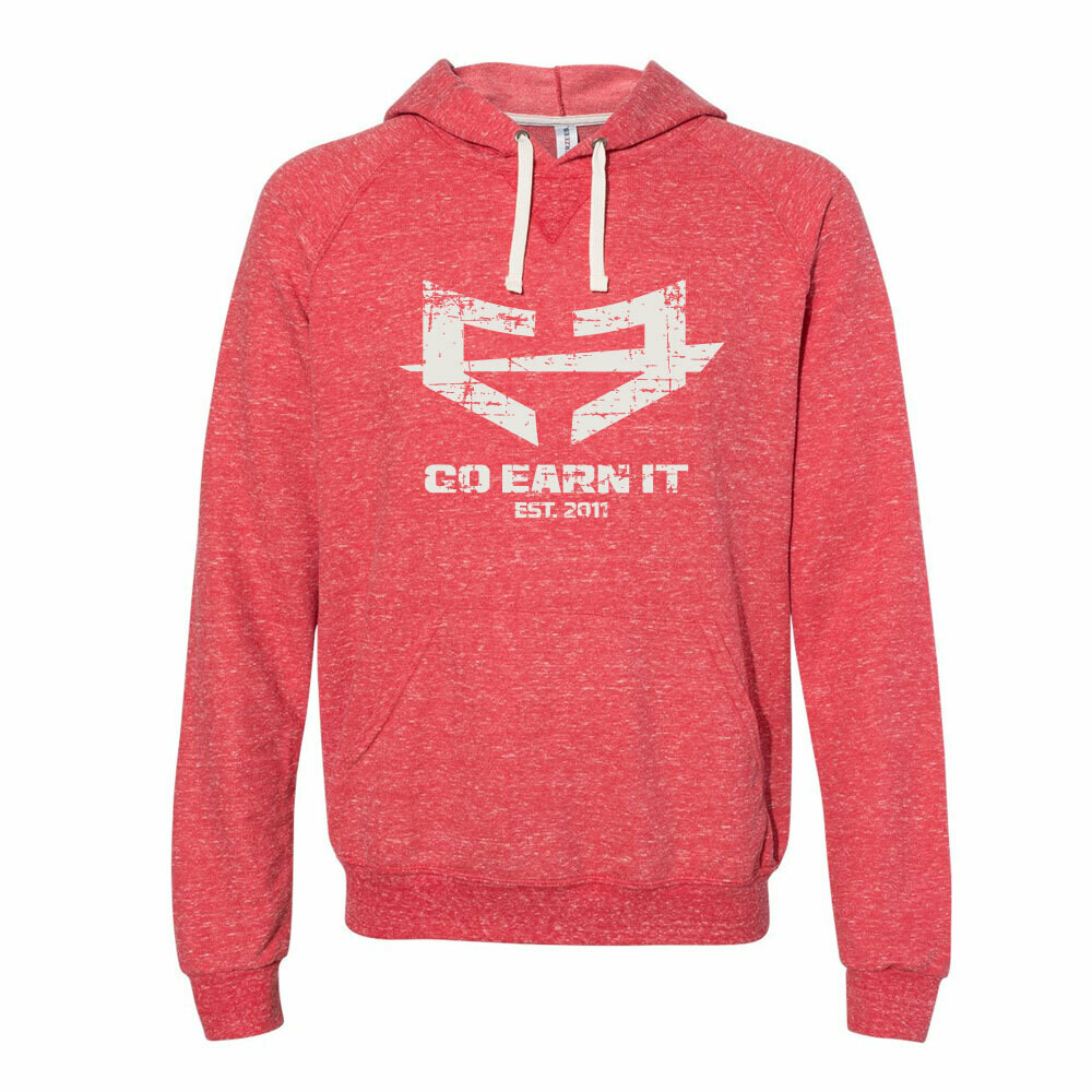 Go Earn It Distressed Hoodie (A2XL)  - Red
