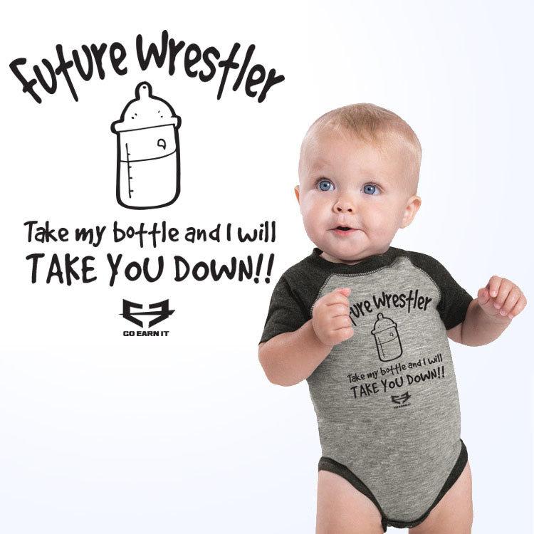 FUTURE WRESTLER BABY ONESIE