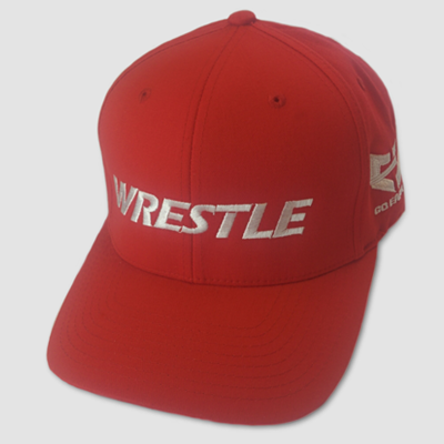 WRESTLE Fitted Hat - Red