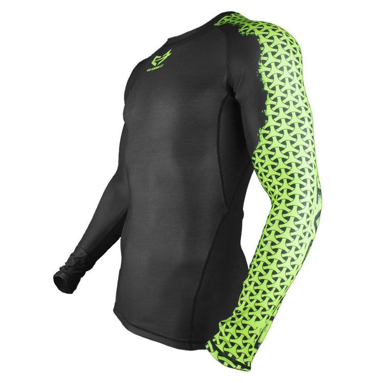 COMBAT Green Sleeve Compression Shirt LS