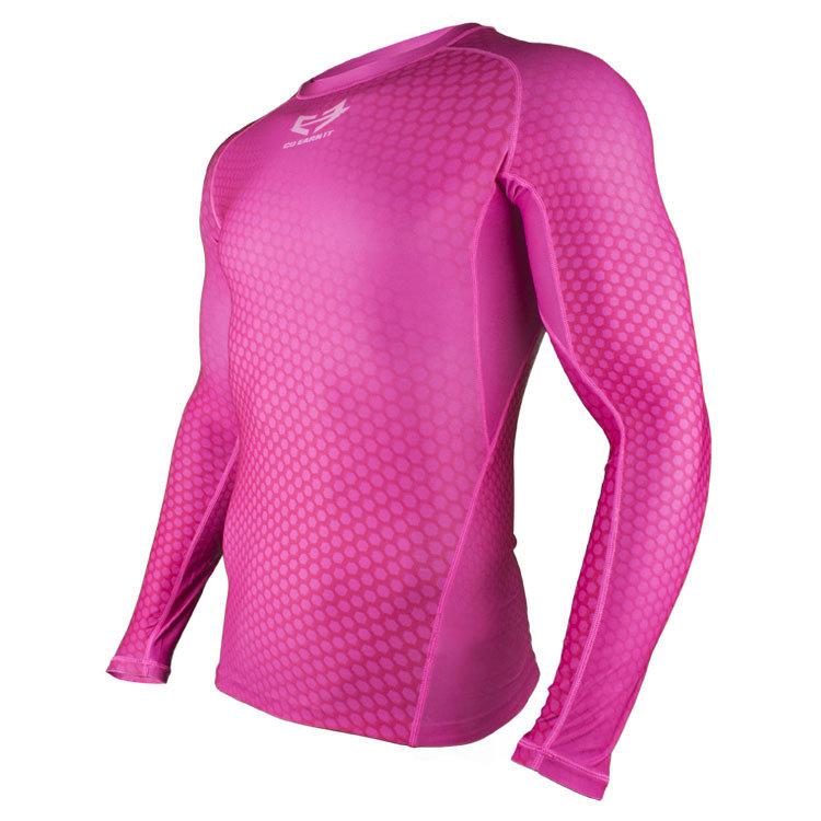 Pink HEX Compression Shirt LS