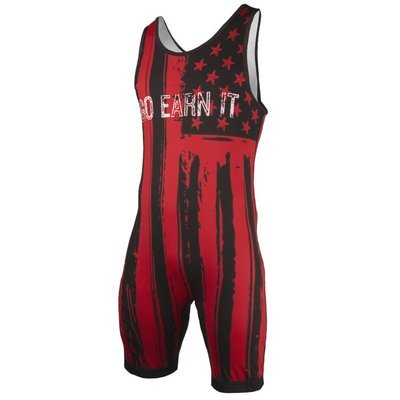 Go Earn It - Red Stars and Stripes Singlet - Adult Sizing Only
