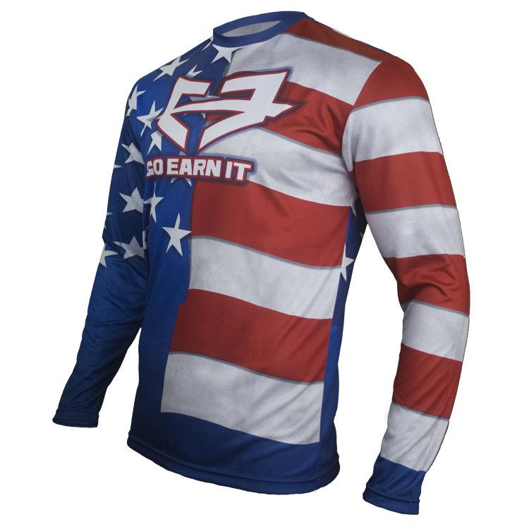 AMERICAN FLAG DRI-FIT LS SHIRT