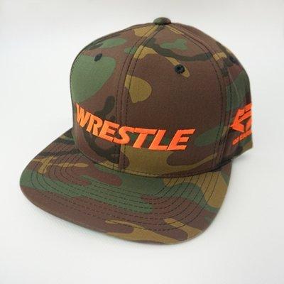 WRESTLE Snapback Hat - Camo