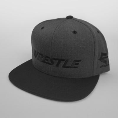 WRESTLE Snapback Hat - Black and Gray