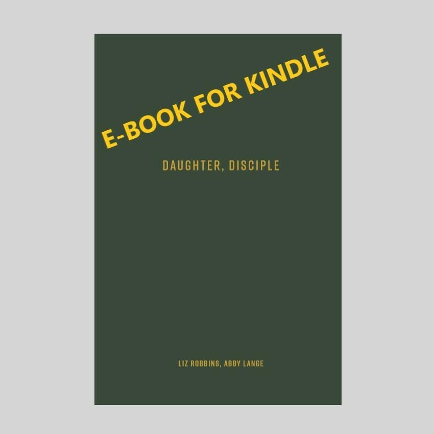 Daughter, Disciple E-Book (MOBI file for Kindle)