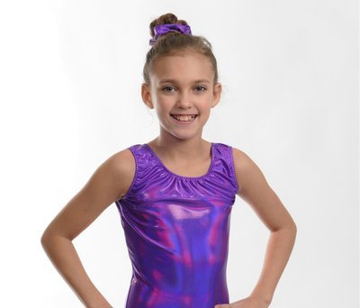 Leotard with matching scrunchie.