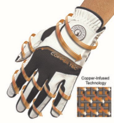 Coppertech heren golfhandschoen links