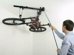 Floaterhoist, horizontaal fietsopbergsysteem, kleur zwart
