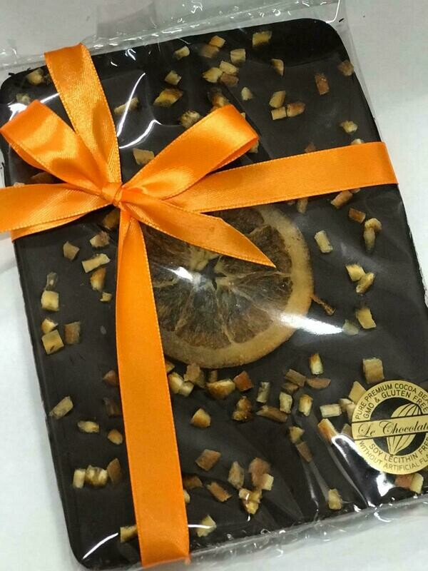 Artisan Orange Valencia - 70% Dark Orange Chocolate with Dried Oranges 120g