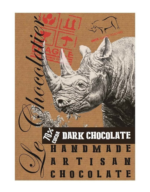 SLAB DARK CHOCOLATE 70% RHINO 100g