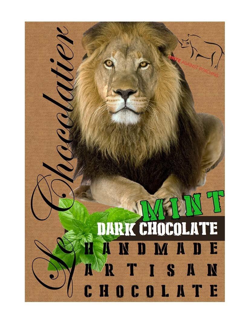 SLAB 55% DARK – MINT CHOCOLATE LION 100g