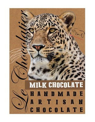 SLAB MILK CHOCOLATE LEOPARD 100g