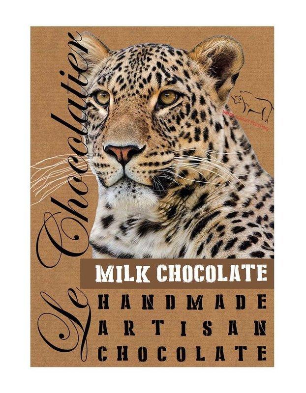SLAB MILK CHOCOLATE LEOPARD 100g