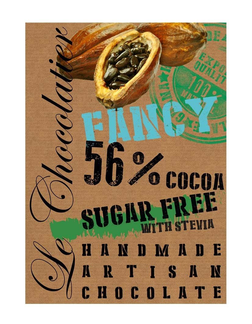 SLAB DARK CHOCOLATE 56% SUGAR FREE 100g