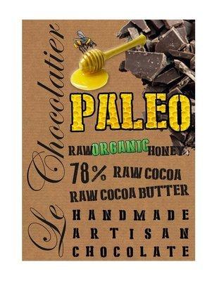 SLAB DARK CHOCOLATE 78% PALEO / ORGANIC HONEY 100g