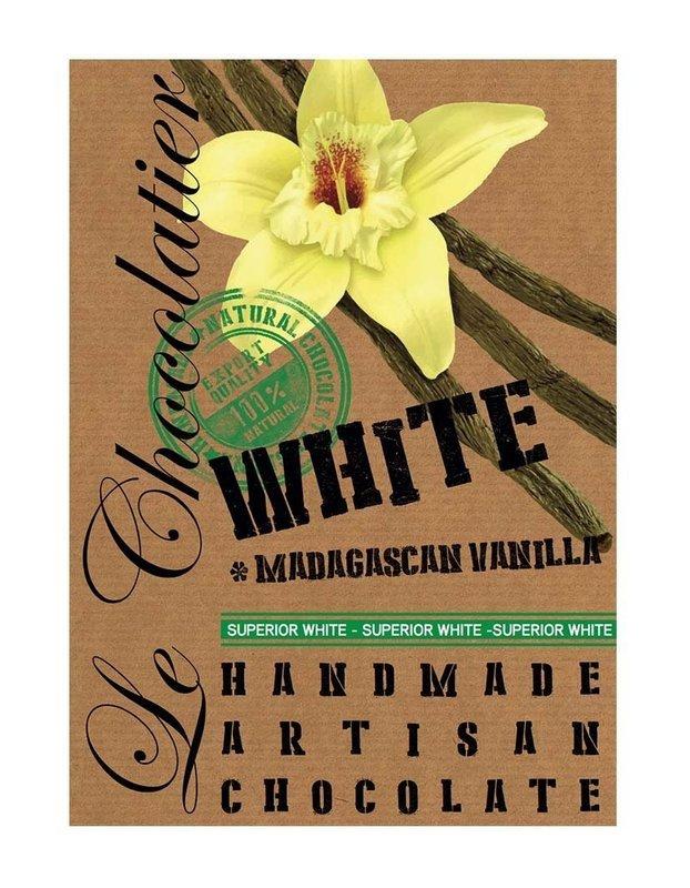 SLAB WHITE CHOCOLATE MADAGASCAN 100g