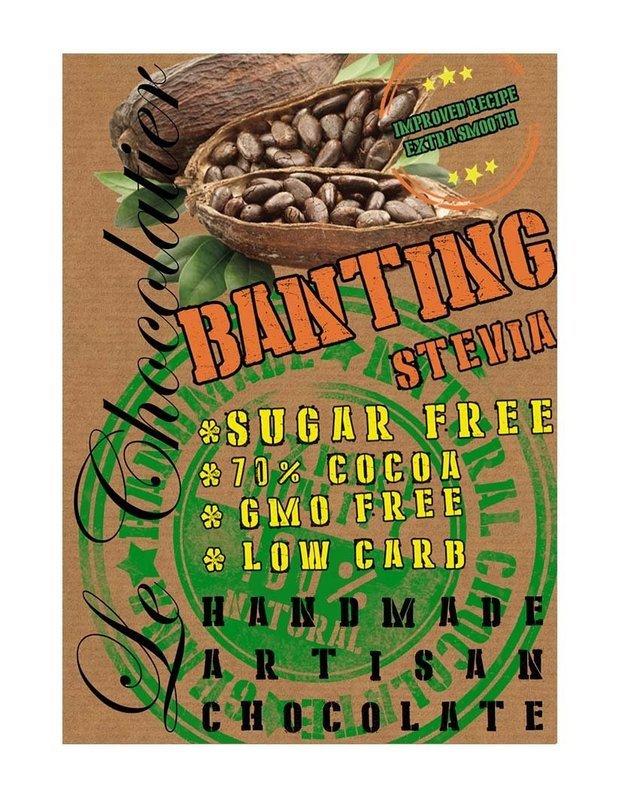 SLAB BANTING CHOCOLATE - SUGAR FREE 100g