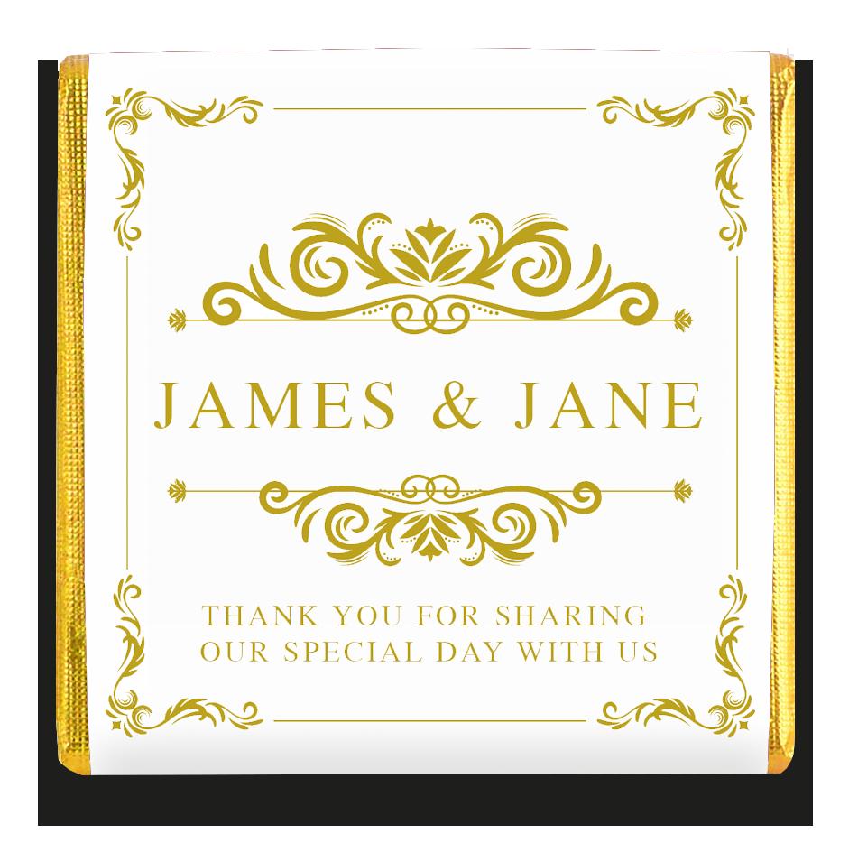 Personalized Small Wedding Chocolates