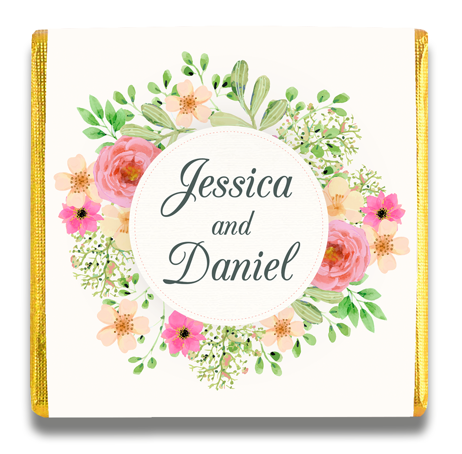 Personalized Small Wedding Chocolates
