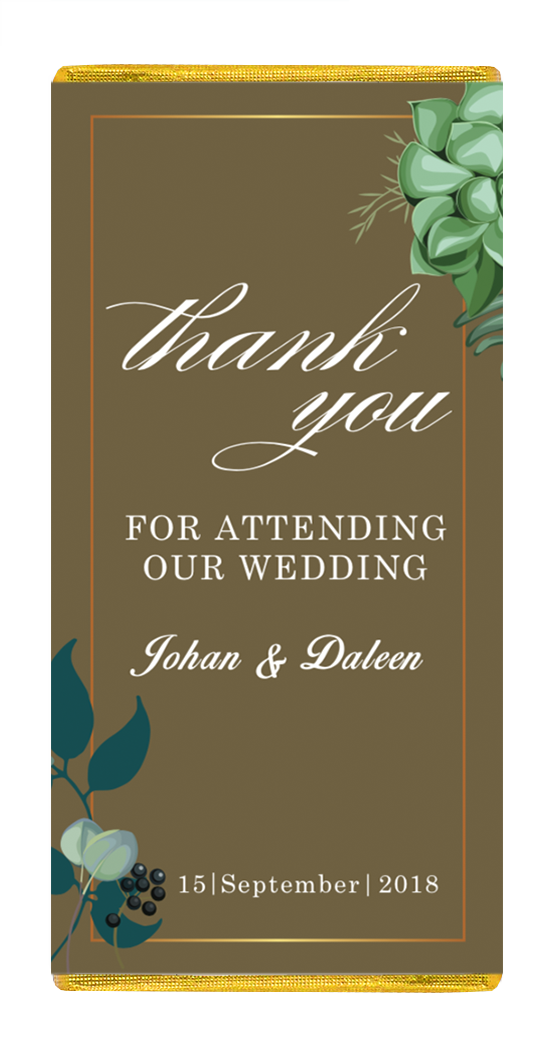 Personalized 25g Chocolate Bars for your Wedding