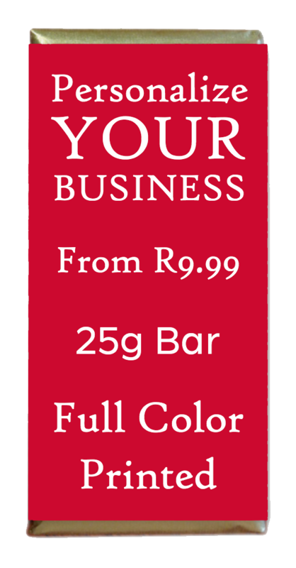 Personalized 25g Chocolate Bars for your Business / Event