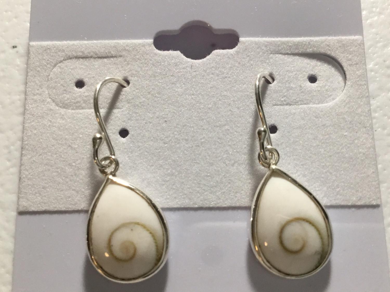Sterling Silver Small Teardrop Shiva Earrings