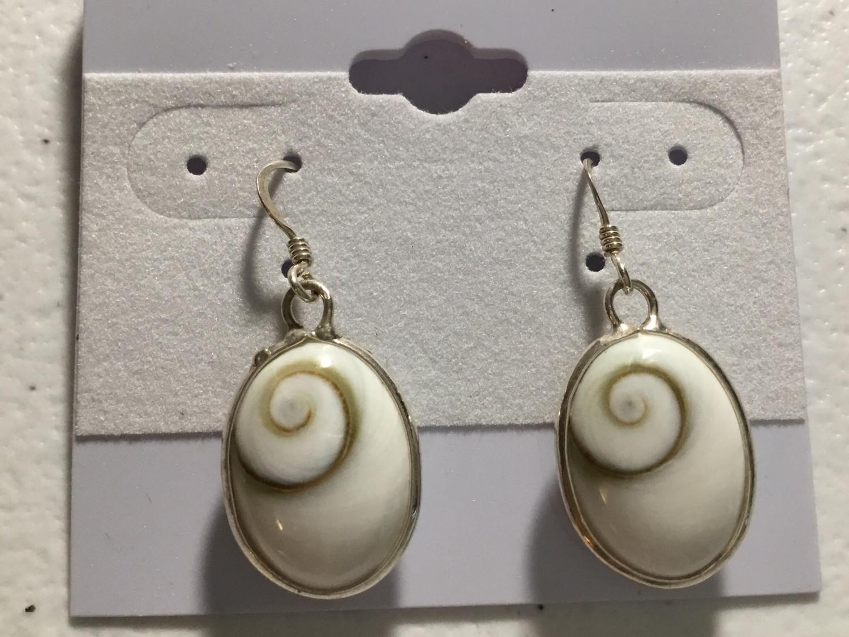 Sterling Silver Oval Shiva Earrings