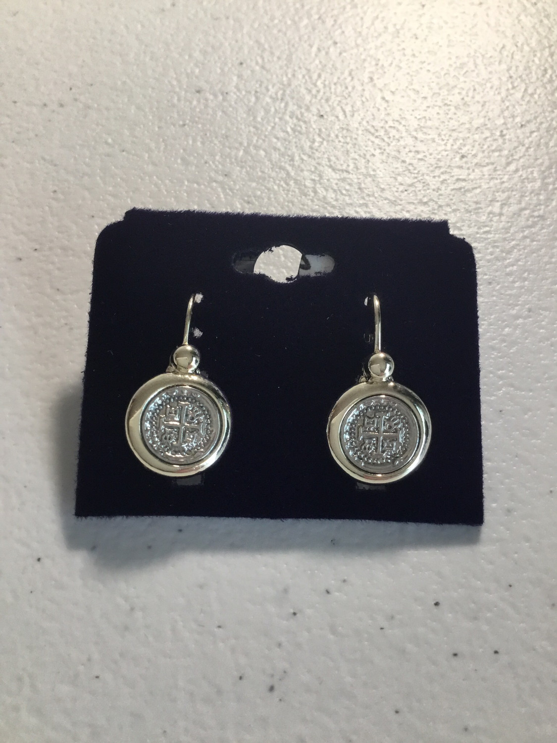 Silver Small Coins Earrings