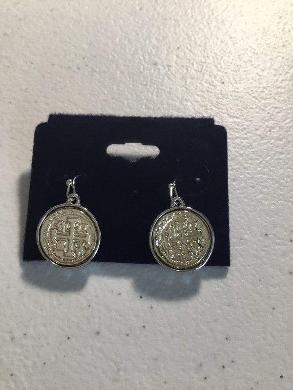 Gold and Silver Small Coin Earrings