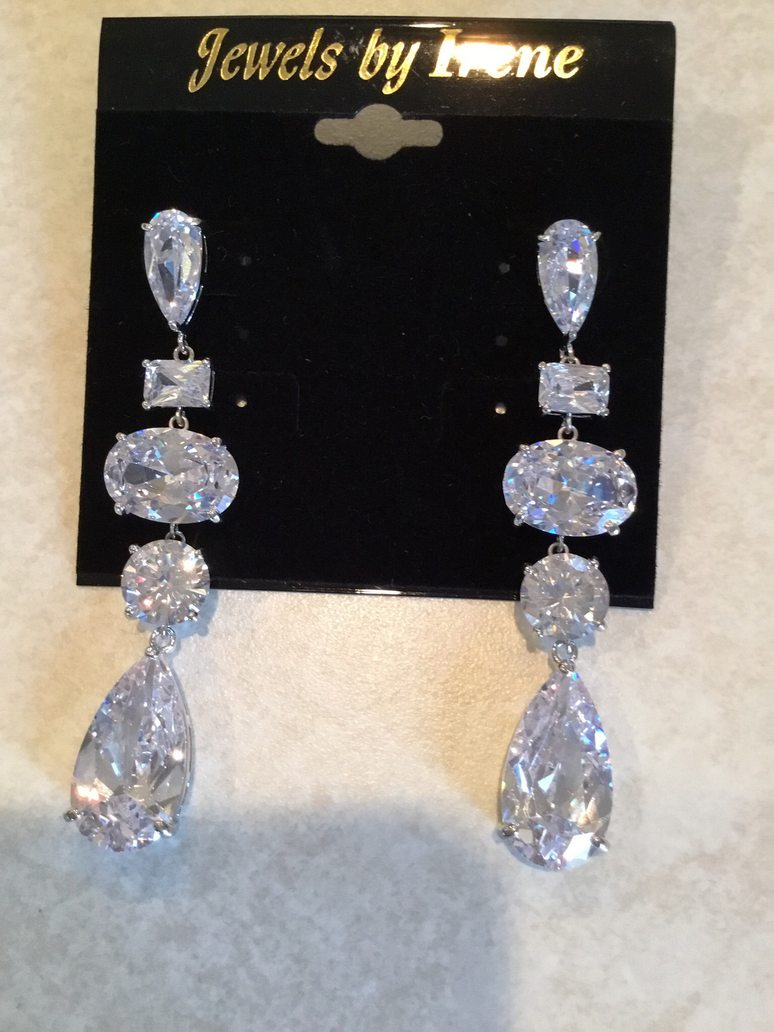 Beautiful Multi Shape Crystal Earrings