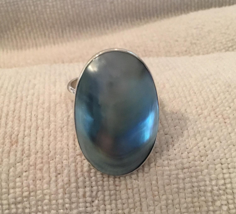Sterling Silver Handmade Adjustable Nautilus Shell Ring