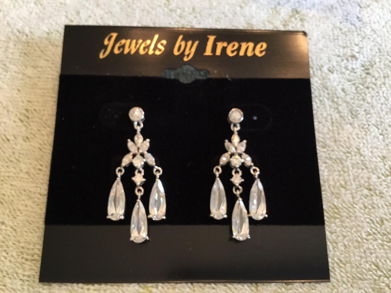 Crystal Chandelier Three Drop Earrings