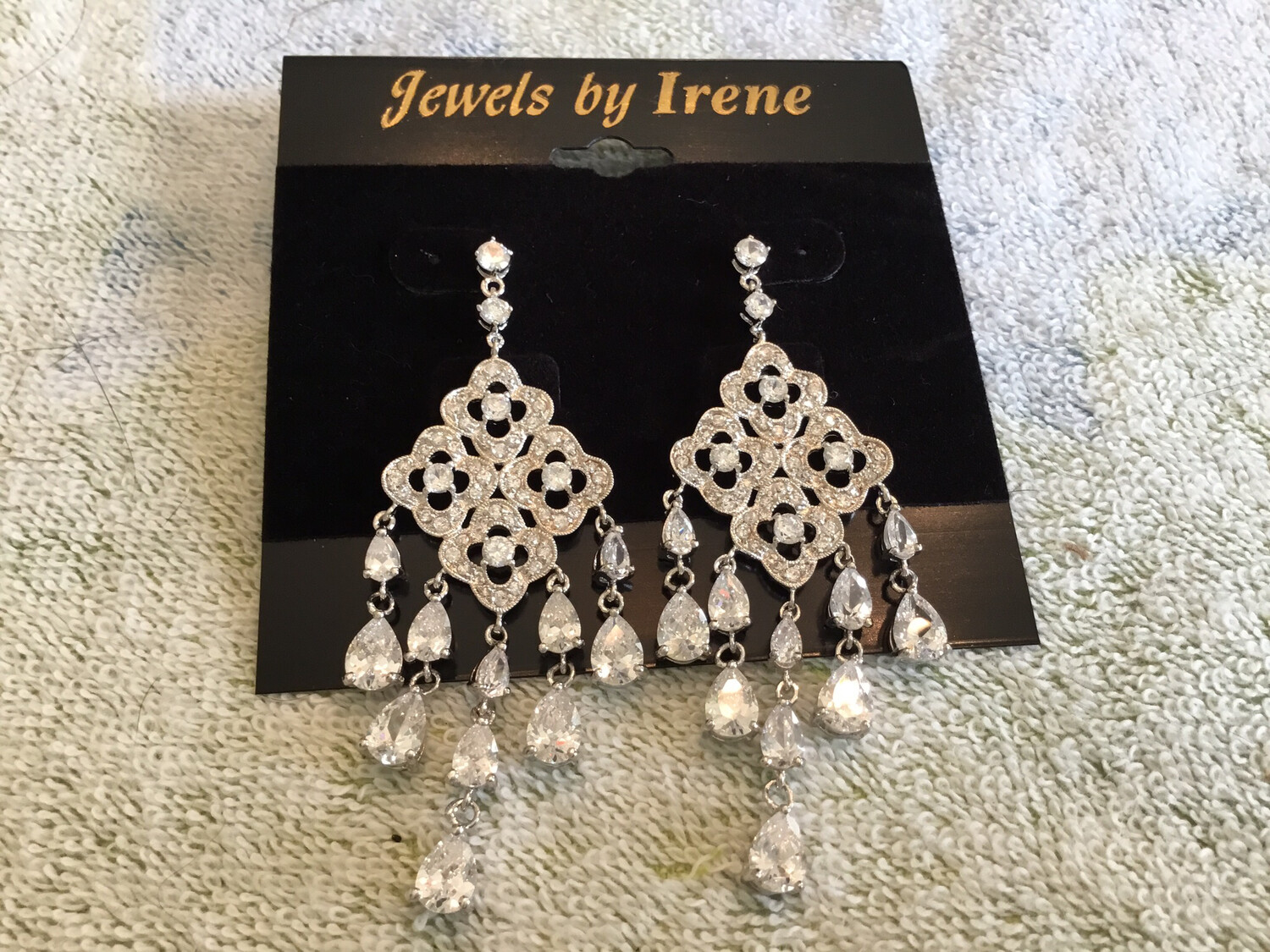 Chandelier Long Crystal Earrings